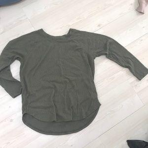 Cute green soft long sleeved shirt